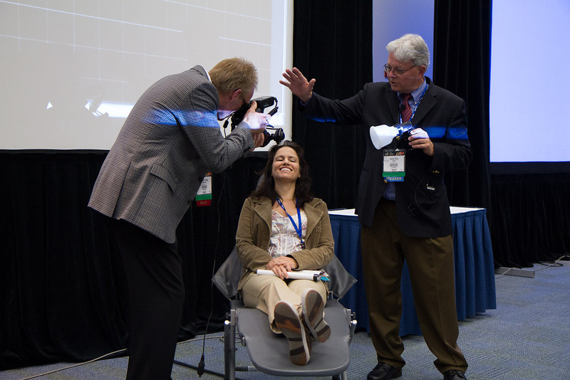 Dr Dunn and Dr Young demonstrate sidelit smile shots