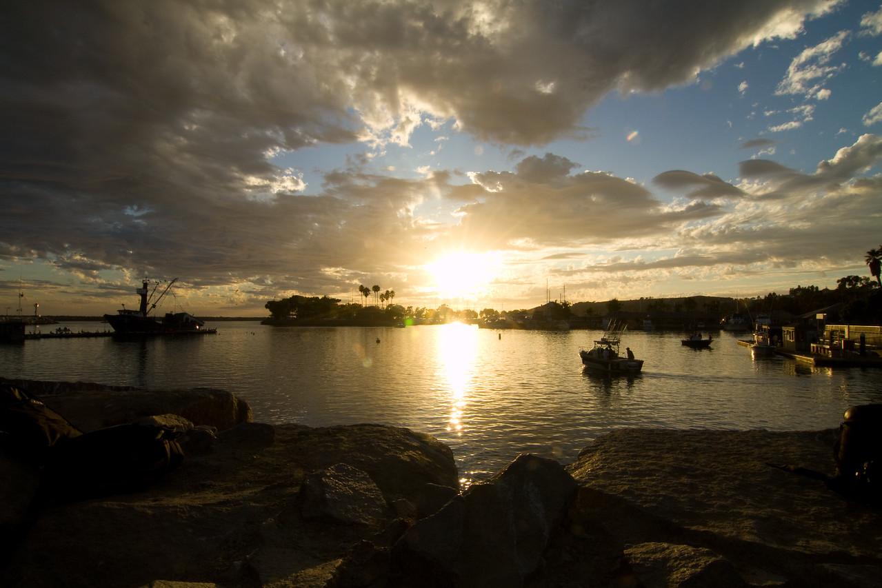 Sunset at Dana Point Harbor