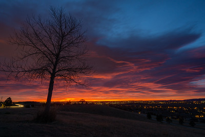 Sunrise in Lakewood, Colorado
