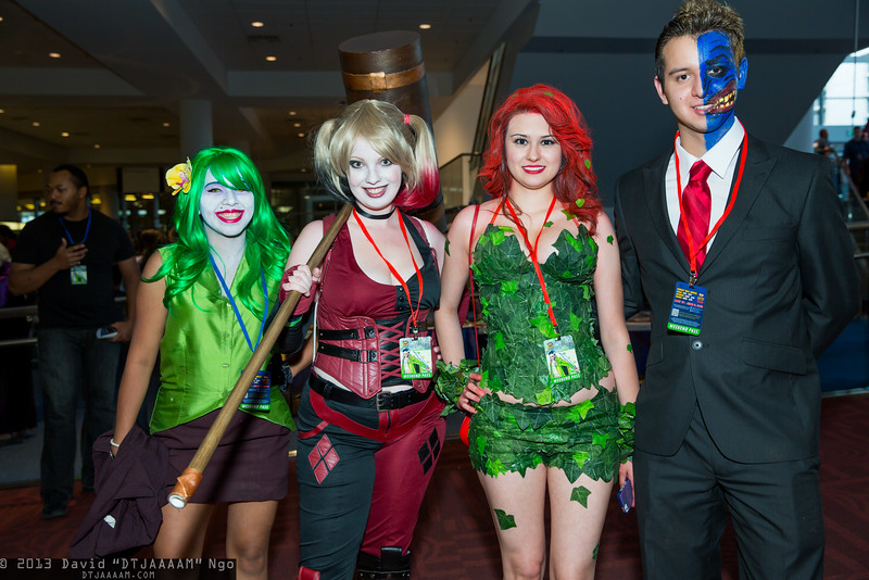 Joker, Harley Quinn, Poison Ivy, and Two-Face