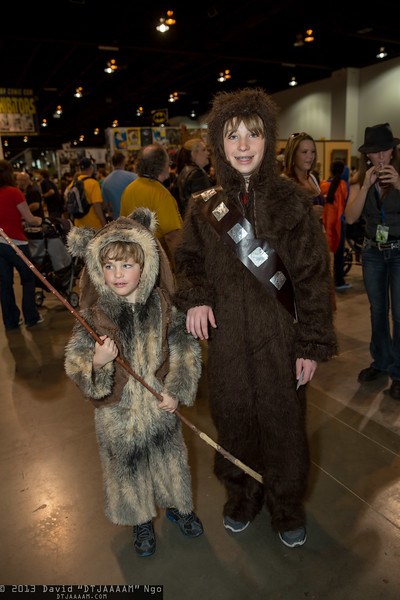 Ewok and Chewbacca