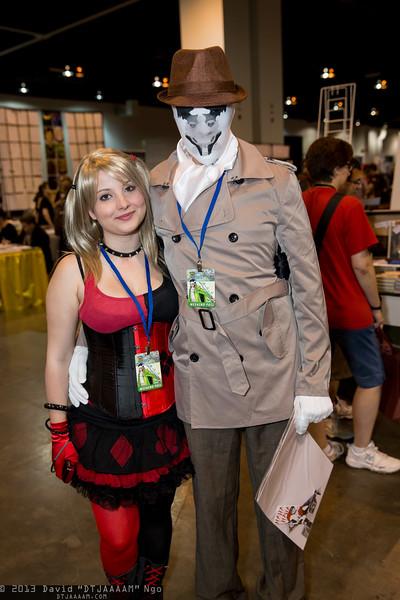 Harley Quinn and Rorschach