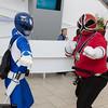 Blue Ranger and Red Samurai Ranger