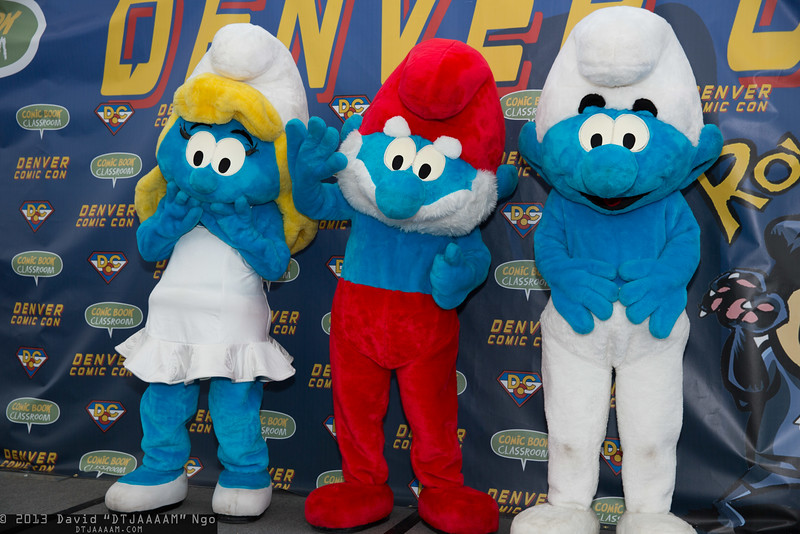 Smurfette, Papa Smurf, and Smurf