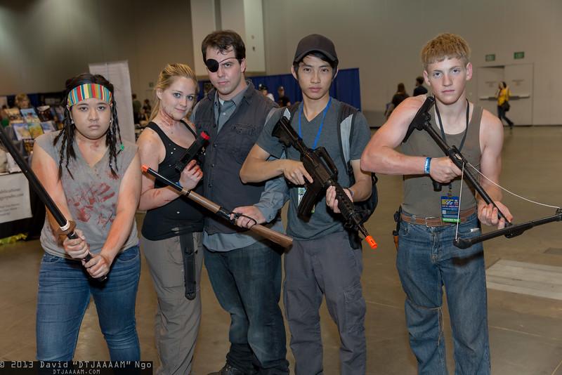 Michonne, Andrea, Governor, Glenn Rhee, and Daryl Dixon