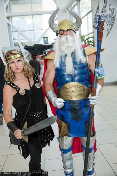 Valkyrie and Odin