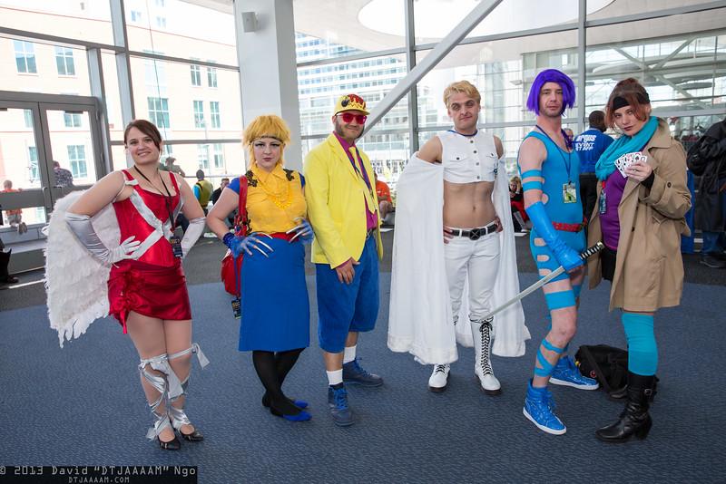 Angel, Wolverine, Jubilee, Emma Frost, Psylocke, and Gambit