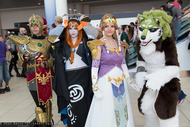 Links, Midna, and Princess Zelda