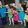 Mojo Jojo, Buttercup, Blossom, Bubbles, and Princess Morbucks