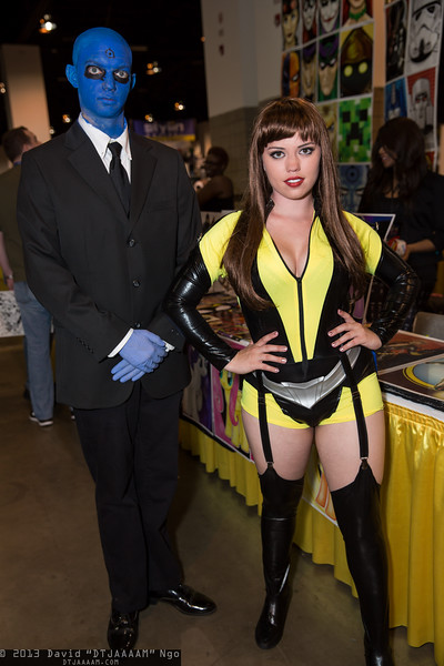 Dr. Manhattan and Silk Spectre