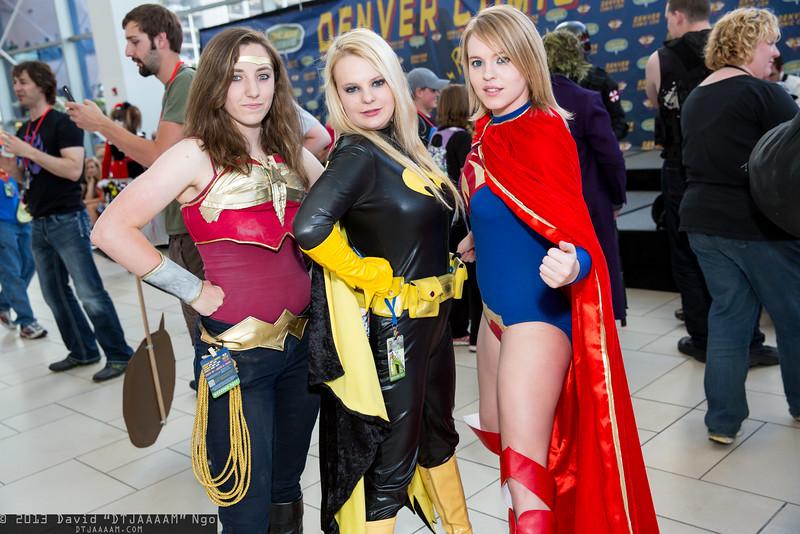 Wonder Woman, Batgirl, and Supergirl