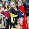 Wonder Woman, Batgirl, and Supergirl