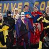 Batgirls, Batman, Supergirls, Joker, Superman, Dark Supergirl, and Poison Ivy