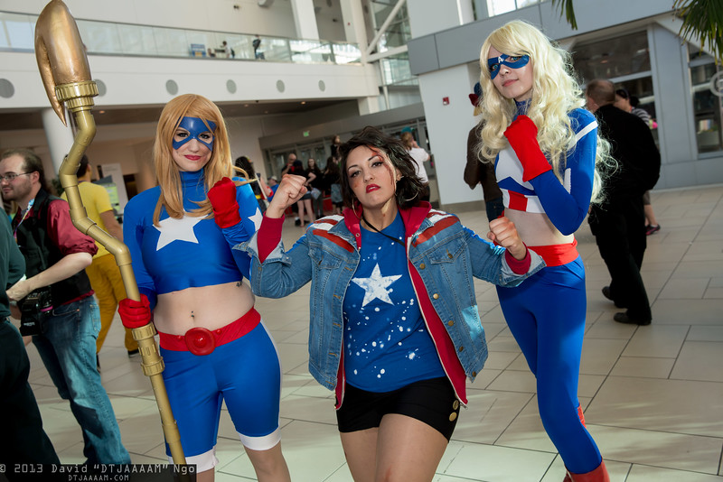 Star Girl, Miss America Chavez, and Captain America