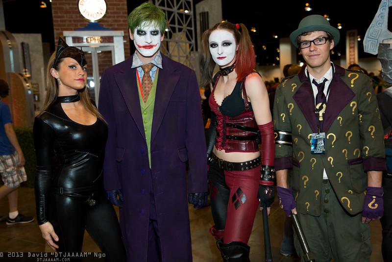 Catwoman, Joker, Harley Quinn, and Riddler