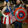 USO Girl and Captain America