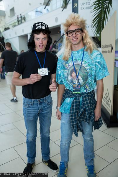 Wayne Campbell and Garth Algar