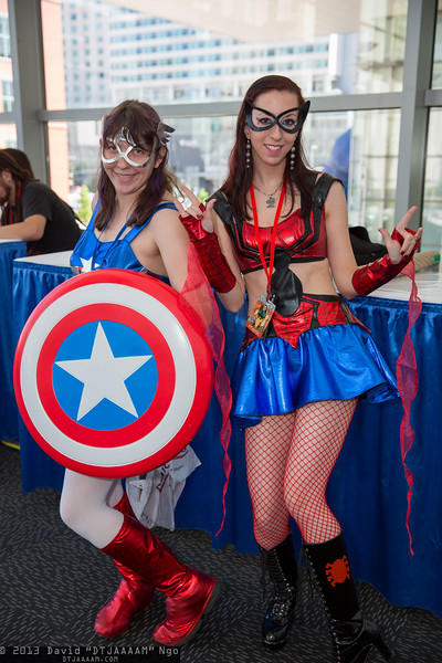 Captain America and Spider-Girl