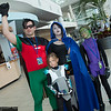 Robin, Cyborg, Raven, and Beast Boy