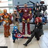 Rescue, Stan Lee, Iron Man, War Machine, Captain America, and Black Widow