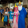 Finn, Marceline, Fionna, Princess Bubblegum, and Ice King