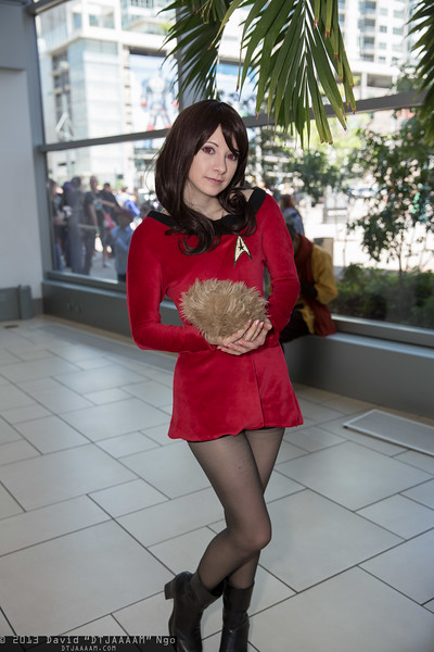Red Shirt and Tribble