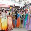 Belle, Snow White, Pocahontas, Aladdin, Jasmine, Mulan, Esmeralda, Ariel, Rapunzel, and Flynn Rider