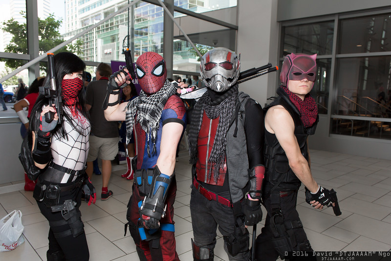 Silk, Spider-Man, Ant-Man, and Daredevil