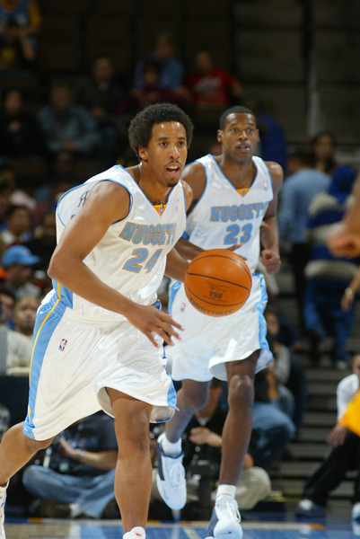 October 24, 2003: Andre Miller of the Denver Nuggets during the 109-92 preseason victory over the Indiana Pacers at the Pepsi Center in Denver,CO.<br /> Mandatory Credit/ Icon SMI