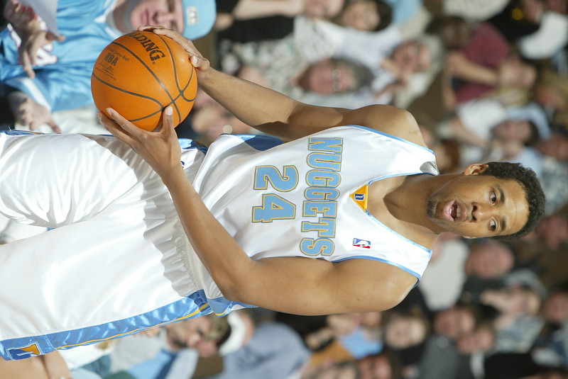 April 12, 2004: Andre Miller of the Denver Nuggets during the 97-89 victory over the Portland Trailblazers at the Pepsi Center in Denver, CO. Mandatory Credit/ Icon SMI