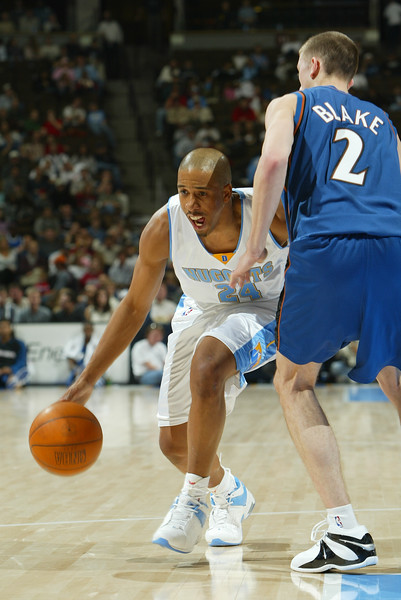 November 21, 2003: Andre Miller of the Denver Nuggets during the 108-87 victory over the Washington Wizards at the Pepsi Center in Denver, Colorado. Mandatory Credit/Icon SMI