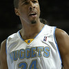 December 7, 2003: Andre Miller of the Denver Nuggets during the 116-111 loss to the Boston Celtics at the Pepsi Center in Denver, Colorado. Mandatory Credit/ Icon SMI