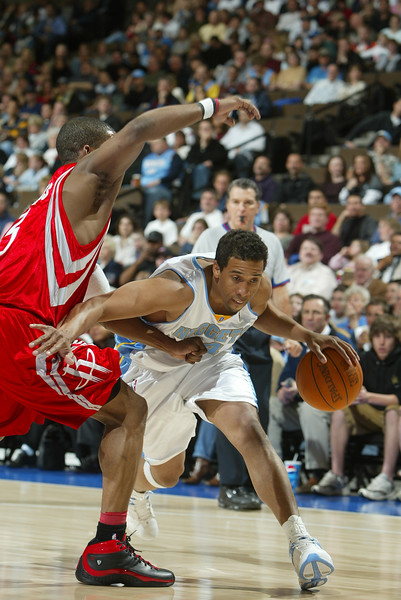 April 2, 2004: Andre Miller of the Denver Nuggets during the 100-110 victory over the Houston Rockets at the Pepsi Center in Denver, CO. Mandatory Credit/ Icon SMI