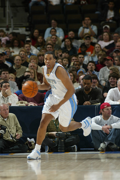 March 6, 2004: Andre Miller of the Denver Nuggets during the 97-66 loss to the Detroit Pistons at the Pepsi Center in Denver, Colorado. Mandatory Credit/ Icon SMI
