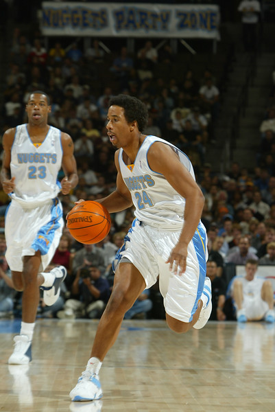 October 29, 2003: Andre Miller of the Denver Nuggets during the 72-80 win over the San Antonio Spurs at the Pepsi Center in Denver, Colorado.Mandatory Credit: Icon SMI