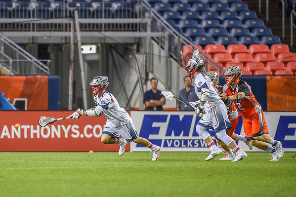 MLL Major League Lacrosse game between the Denver Outlaws and the Boston Cannons at Sports Authority Field at Mile High in Denver, Colorado.  Final score of the game was the Denver Outlaws - 9 and the Boston Cannons - 16