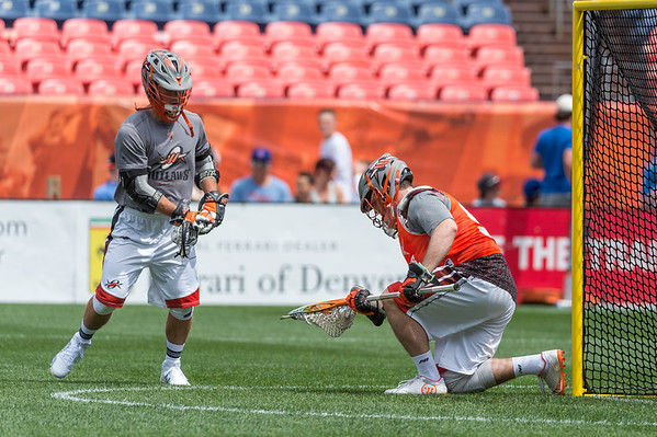 The MMLL Major League Lacrosse game between the Denver Outlaws and the Charlotte Hounds at Sports Authority Field at Mile High in Denver, Colorado on May 7, 2017.  Final score of the game was the Colorado Rapids - 11 and the Charlotte Hounds - 7.