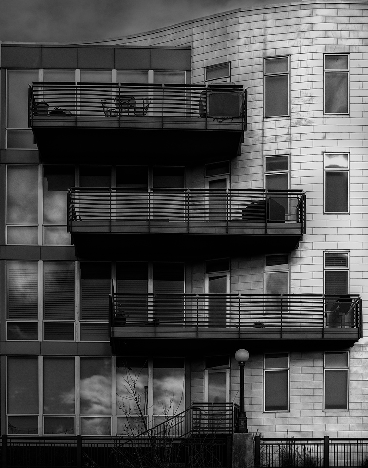 Apartment building, Confluence Park, Denver, CO
