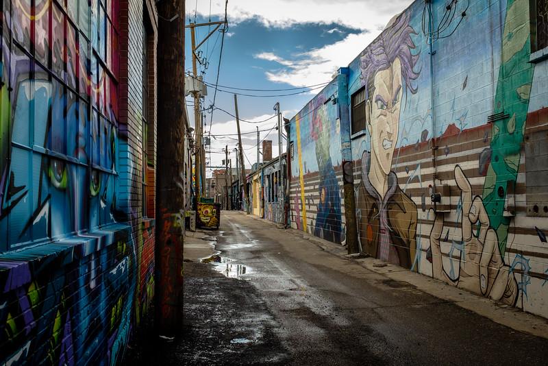 Grafitti Alley, RiNo neighborhood, Denver, CO