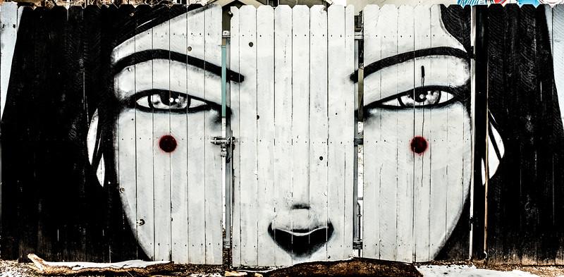 Grafitti girl, RiNo neighborhood, Denver, CO