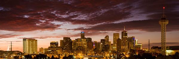 "Denver Sunrise Panorama 10x30"" format"