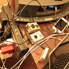 4 USB Devices charging from one point, a GoPro battery charging, a Canon camera battery charging, an iPhone 5, iPad, GoPro Power pack, and a Mac Book Air.<br /> <br /> ...considering all the devices, they're not using that much power.  ;)