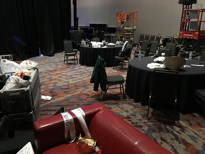 Backstage Band area