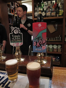 Hopcraft, Pontyclun Temple of Love 3.8% and Electric Bear Brewing Drop Red Ale 4.3%