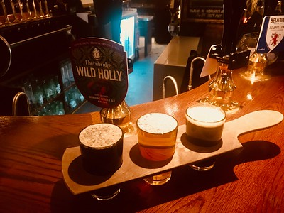 Drum and Monkey Glamorgan Brewing Co Welsh Cake Stout Inveralmond Brewery Thai IPA Thornbridge Brewery Wild Holly. All winners and all tasty!