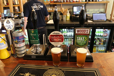 Salopian Darwin's Origin 4.3% and Woods Take5 5.2% IPA at The Church Inn, Ludlow