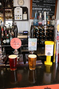 Cornish Crown Brewery Red IPA 5.9% and Citra IPA 4.0% at The Crown, Penzance