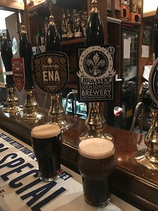 Thornbridge Ena Milk Stout 4.6% and Loch Lomond Brewery Bravehop 6% at the Stockbridge Tap
