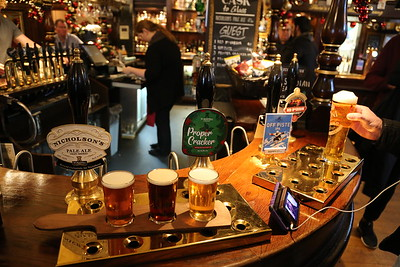 Nicholsons Pale Ale 4.0% St Austell Proper Cracker Ruby 4.3% Fullers Off Piste IPA 4.6% at the Drum and Monkey, Glasgow