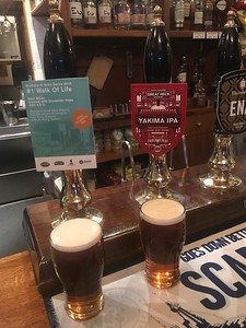 Great Heck doubler! Brothers in Arms Series 2018 #1 Walk of Life 4% and Yakima IPA 7.4% at the Stockbridge Tap